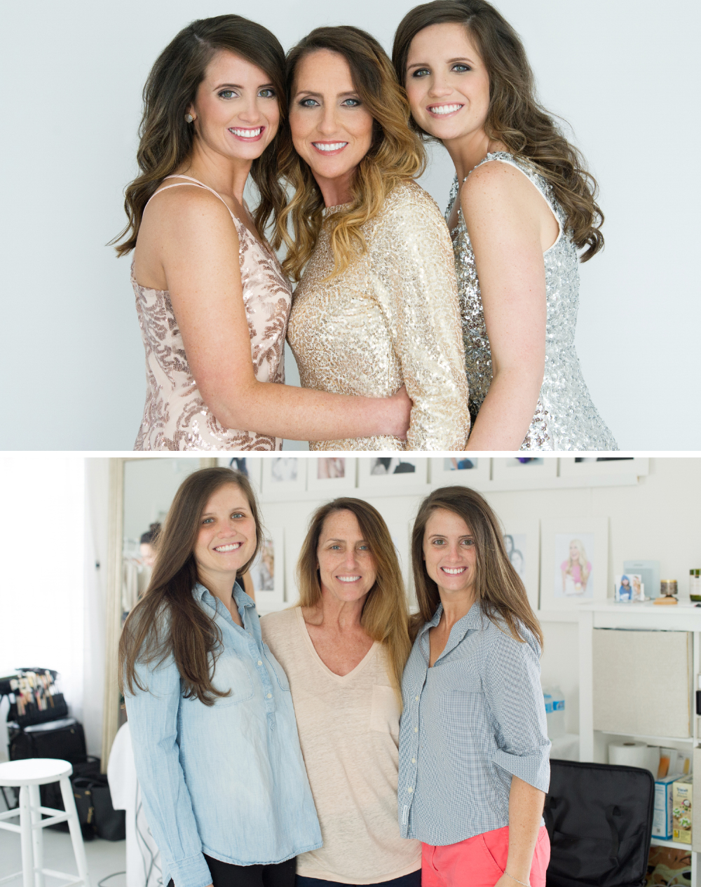 Raleigh Family Glamour Portrait Photographer Before After